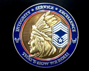 Chief coin, CMSgt coin, USAF Chief coin