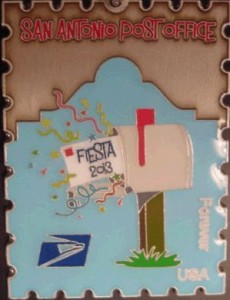 Fiesta medal, US Postal Service