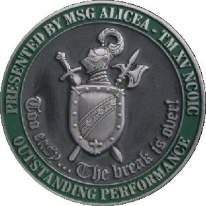 Army Reserves coin