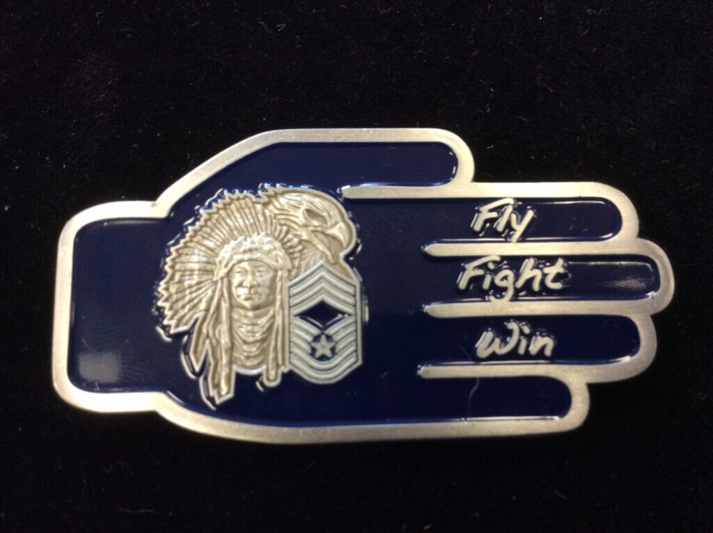 Roy_CMSgt Bryant_USAF Chiefs coin_Back