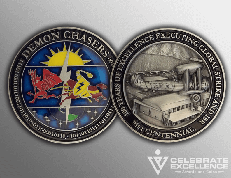 pewter challenge coin