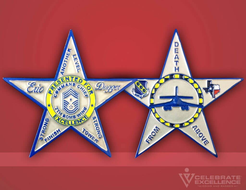Celebrate Excellence 7th Bomb Wing Chief Coin