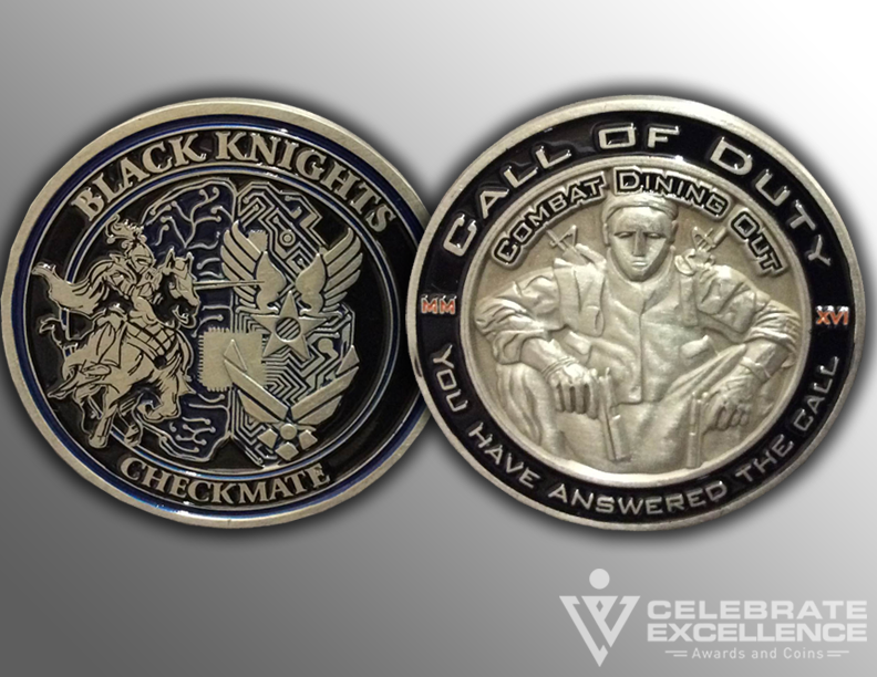 Air Force_Challenge Coins_Black Knights