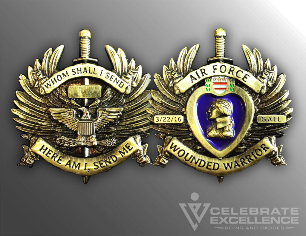 Celebrate Excellence Air Force Wounded Warrior Coin