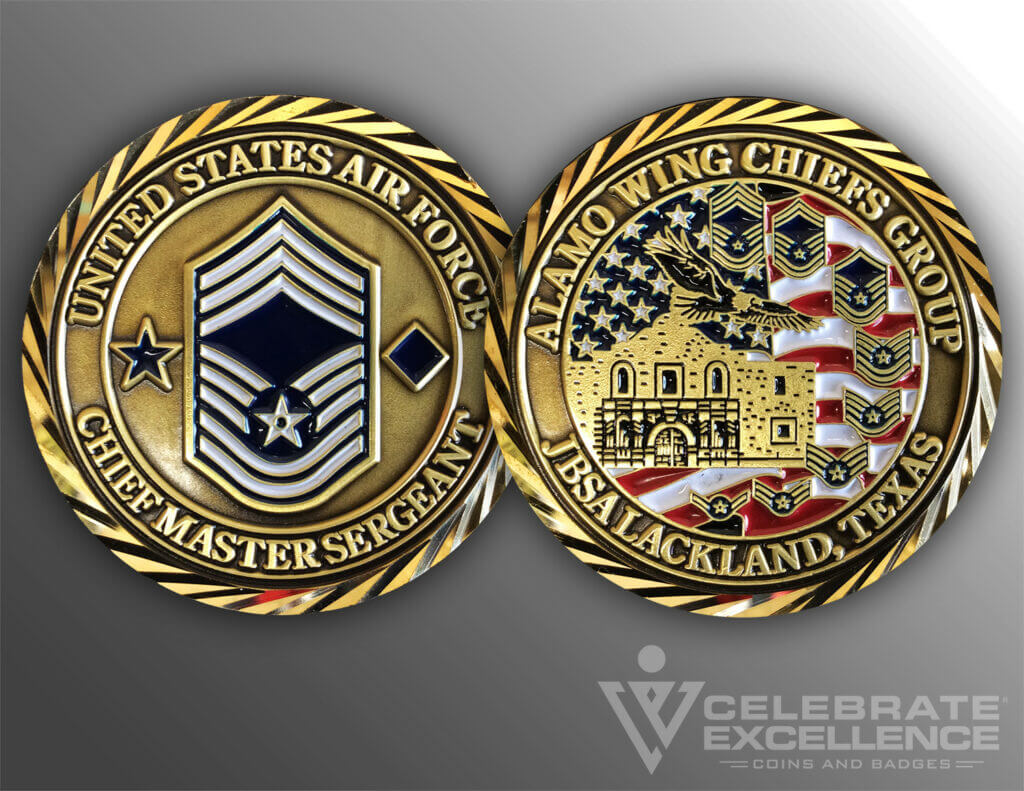 Celebrate Excellence Alamo Wing Chiefs Group Challenge Coin