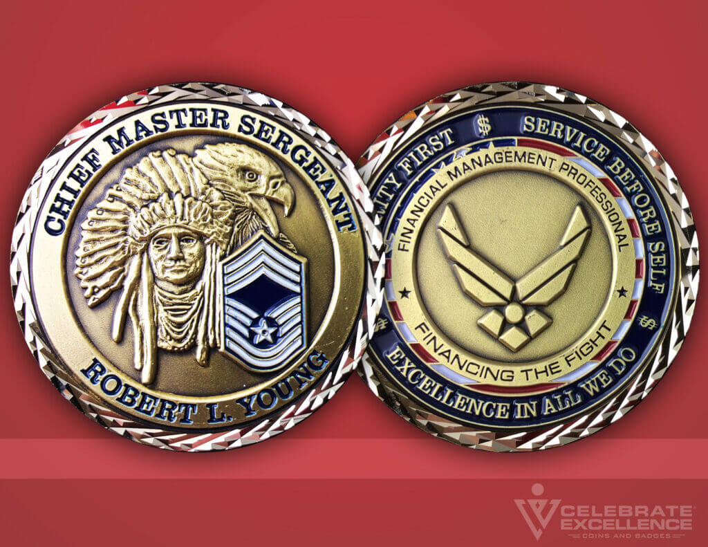 Celebrate Excellence Cheif Master Sgt. Robert Young Challenge Coin