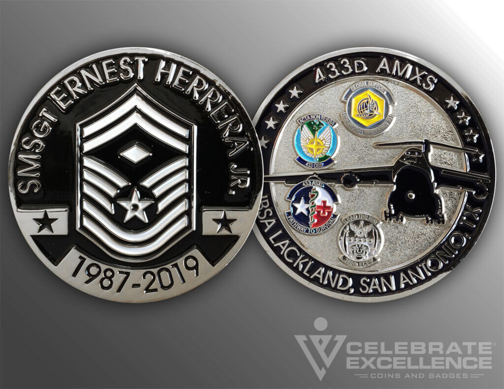 Celebrate Excellence Ernest Herrera Jr 433d AMXS Challenge Coin