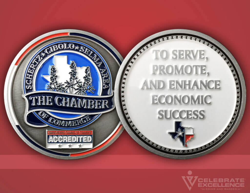 Celebrate Excellence The Schertz Chamber Coin