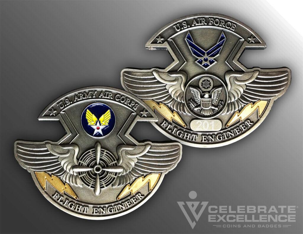 Celebrate Excellence USAF Flight Engineer Challenge Coin