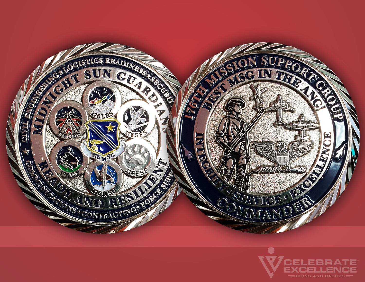 Celebrate Excellence 176th Mission Support Group Challenge Coin