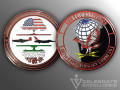 Celebrate Excellence 407th Expeditionary Comm Sq Challenge Coin