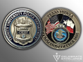 Trinity University Police_Challenge Coin_FBI National Academy