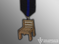 Saving a Hero's Place Chair fiesta medal