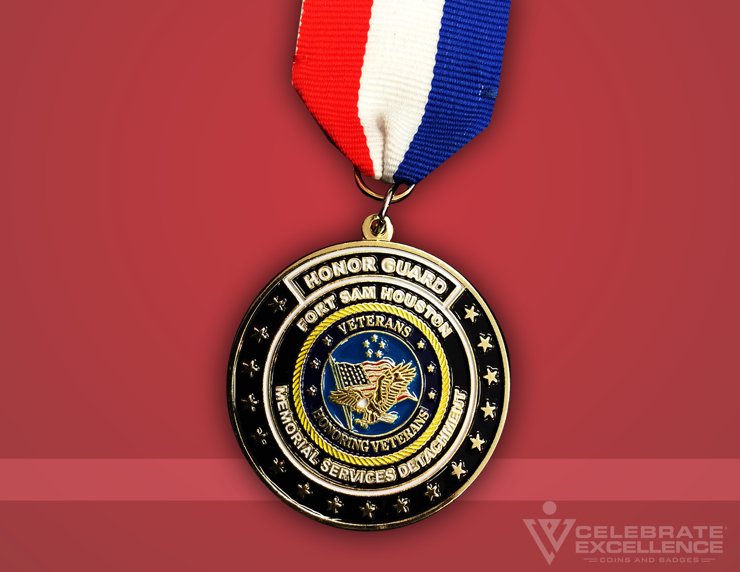 Celebrate Excellence Honor Guard Memorial Services Fiesta Medal