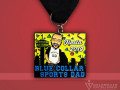 Celebrate Excellence Blue Collar Sprts Dad Fiesta Medal