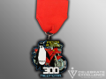 Fiesta Medal With Penguin & Motorcycle