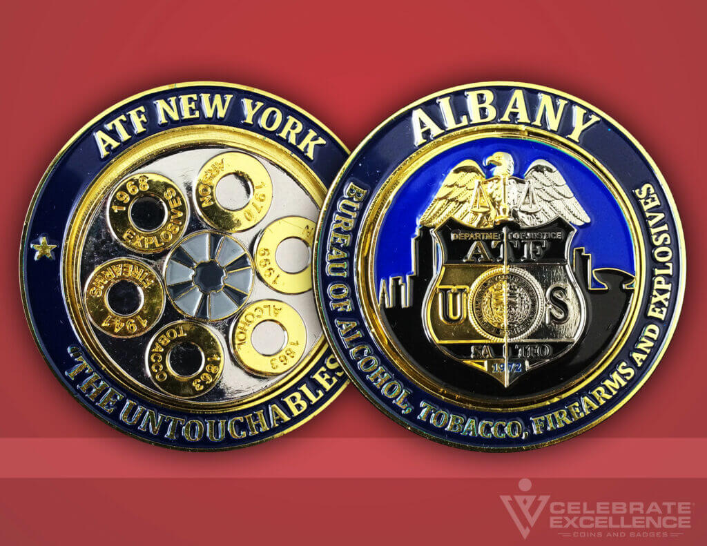 Celebrate Excellence ATF New York Albany Challenge Coin