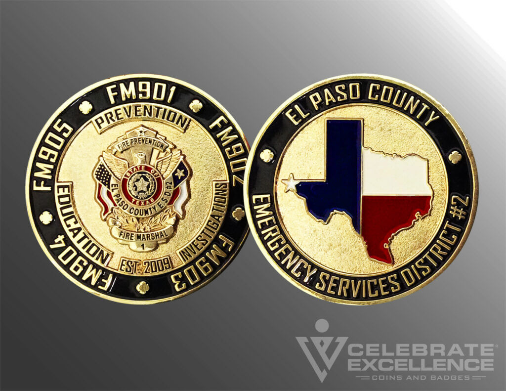 Celebrate Excellence El Paso County Fire Prevention Challenge Coin
