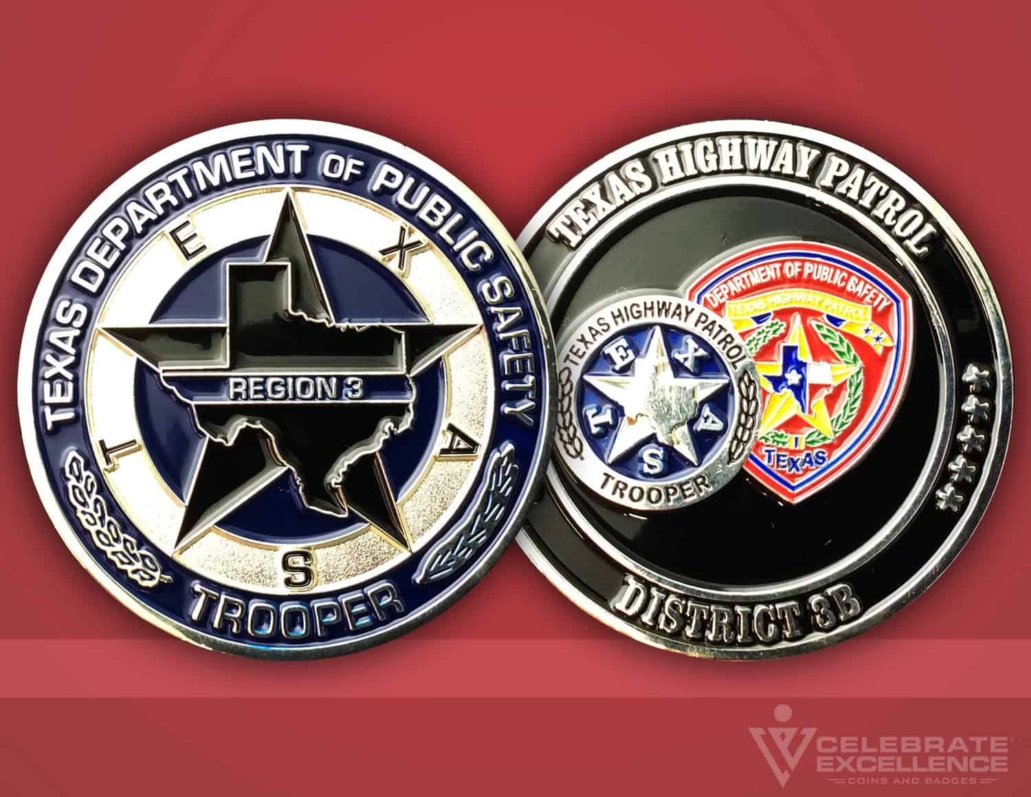 Celebrate Excellence Texas Highway Patrol Challenge Coin Showcase