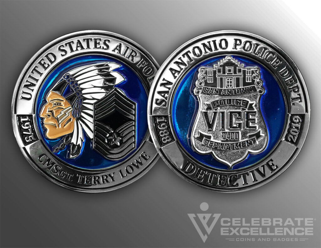 Celebrate Excellence SAPD Vice Unit Coin