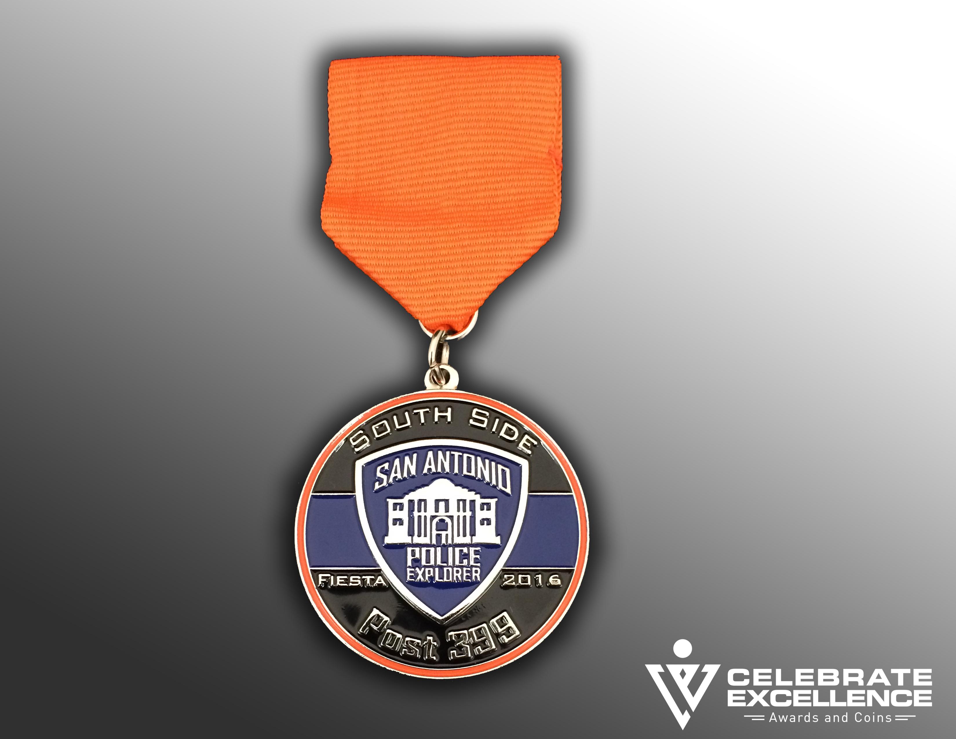 SAPD Fiesta medals | award winning SA Police Fiesta medals