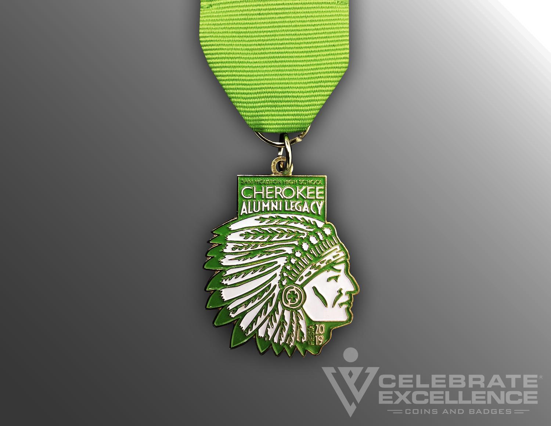 Celebrate Excellence Cherokee Alumni Legacy Fiesta Medal