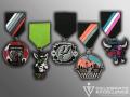 Spurs, Coyotee, Rampage Fiesta Medals
