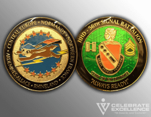 Celebrate Excellence 56th Signal Battalion Challenge Coins | San Antonio Texas