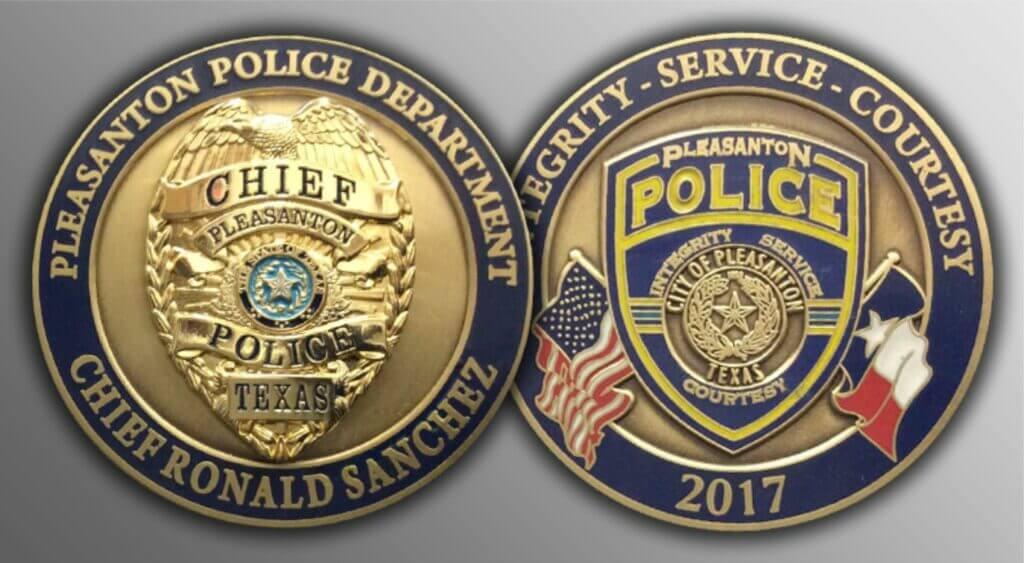 Police challenge coin_Pleasanton