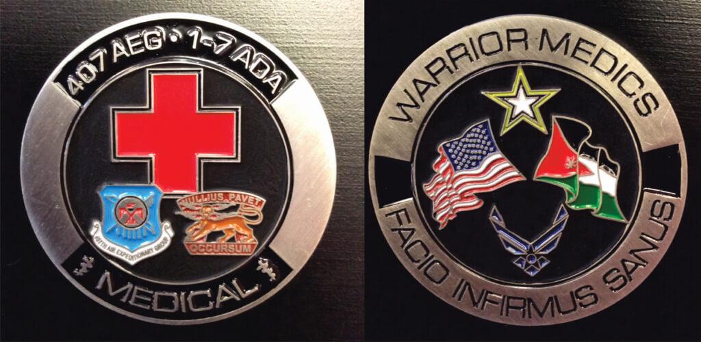 407 AEG_Warrior Medics_challenge coin