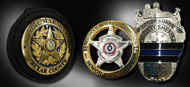 Texas law enforcement badges