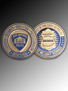 Celebrate Excellence SAPD Chief McManus Challenge Coins   San Antonio Texas