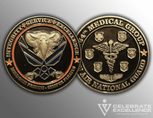 Celebrate Excellence 164th Medical Group Challenge Coins | San Antonio Texas