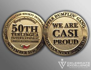 Celebrate Excellence CASI Challenge Coins | San Antonio Texas