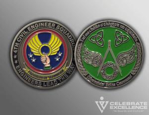 Celebrate Excellence 4th CES Challenge Coins | San Antonio Texas
