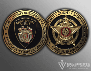 Celebrate Excellence DeWitt County Sheriff Challenge Coins | San Antonio Texas
