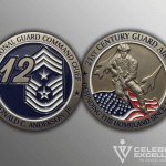 Celebrate Excellence Anderson CMSgt Ronald HQ ANG Challenge Coins | San Antonio Texas