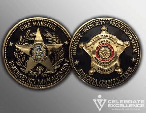 Celebrate Excellence Atascosa County Challenge Coins | San Antonio Texas