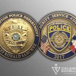 Celebrate Excellence Pleasanton Police Chief Sanchez Challenge Coins | San Antonio Texas