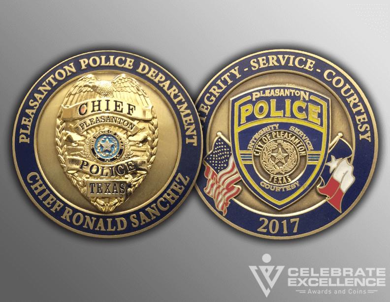 Pleasanton Police Chief coin_Sanchez