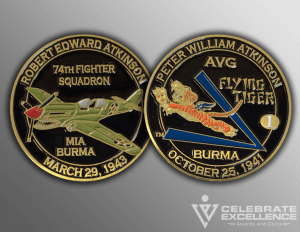 Celebrate Excellence Flying Tiger Challenge Coins | San Antonio Texas