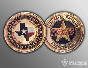 Celebrate Excellence Texas Concealed Handgun Coins | San Antonio Texas
