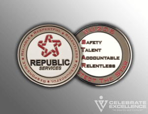 Celebrate Excellence Republic Services Coins | San Antonio Texas
