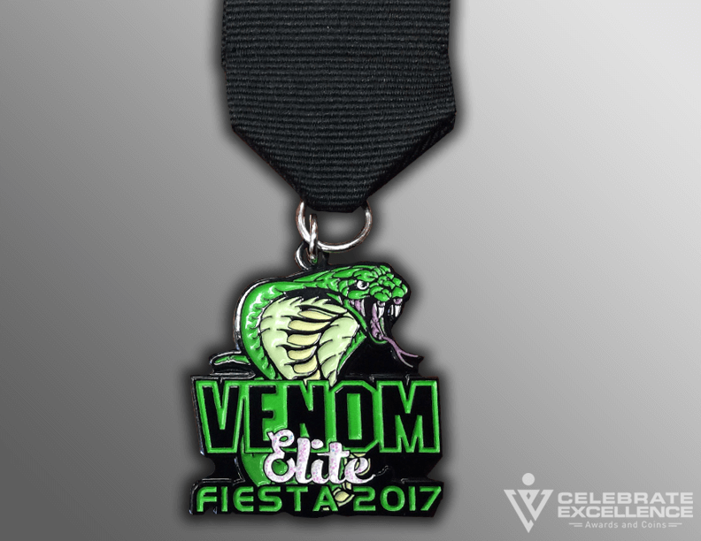 venom Snake Sports team fiesta medal