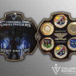 front and back 67th cyberspace wing gunslingers coin