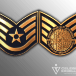 Air Force Challenge Coin front and back Staff Sergeant