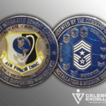 Front and back of IMSC Air Force Challenge coin