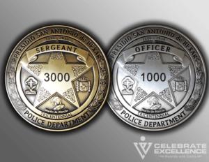 San Antonio Police Department Tricentennial Badge
