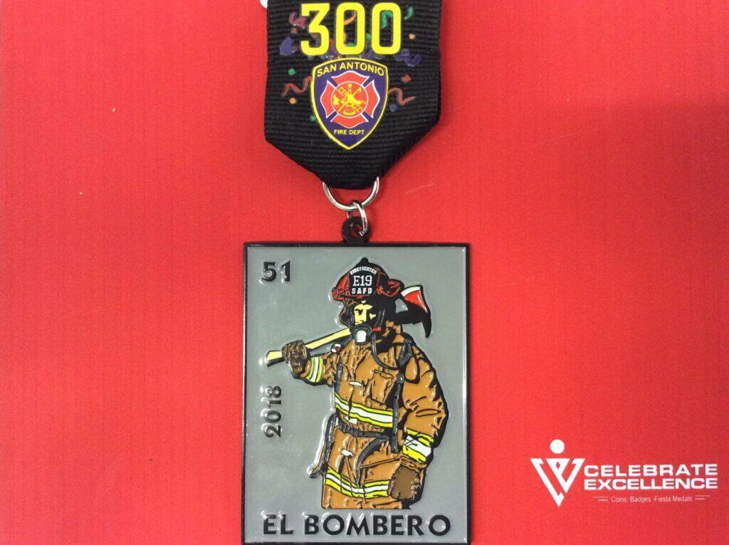 SAFD Fiesta Medal Loteria Card