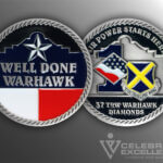 Celebrate Excellence 37 TRW Warhawk Diamonds Challenge Coin